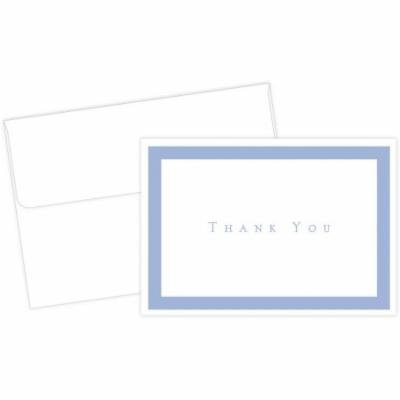 Great Papers! Periwinkle Thank You Notes with Envelopes, 50ct