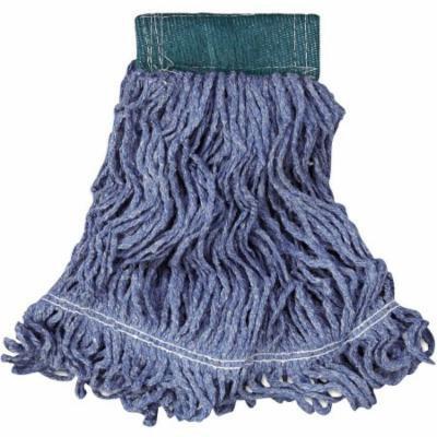 Rubbermaid Commercial Cotton/Synthetic Super Stitch Blend Mop Head, Blue, Medium