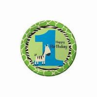 Wild At One Zebra Dinner Plate by Creative Converting - 425686
