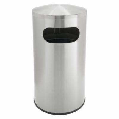 Commercial Zone Allure 15 Gallon Trash Can - Stainless Steel