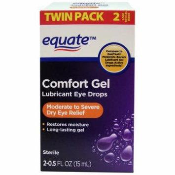 Equate Comfort Gel Lubricant Eye Drops, 0.5 fl oz, 2 count