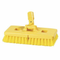 Carlisle Food Service Products Swivel Scrub Floor Scrub Brush with Stiff Polypropylene Bristles (Set of 12)