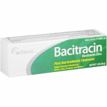 Actavis: Ointment Bacitracin Antibiotic First Aid, 1 Oz