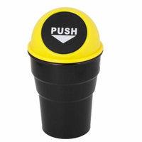 Van Car Truck Ashtray Trash Bin Can Garbage Container Storage Yellow Black