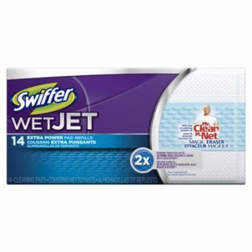 Swiffer Wet Jet Refill Pads with Mr Clean Magic Eraser (Pack of 14)