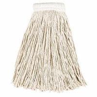 Rubbermaid Commercial Economy Cut-End White Cotton Mop Heads, 12 count