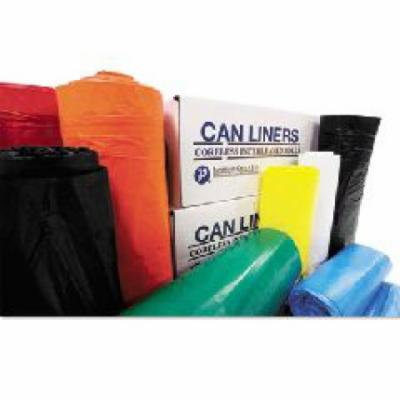 Inteplast Group 60 Gallon Low-Density Can Liner in White, 25/Roll