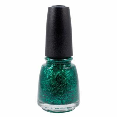 China Glaze 0.5oz Nail Polish Lacquer Clay Teal Glitter, Pine-ing For Glitter, 1349