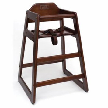 Lipper International 516WN Childs High Chair- Walnut