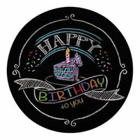 Club Pack of 96 Chalk Birthday Disposable Paper Lunch Plates 7