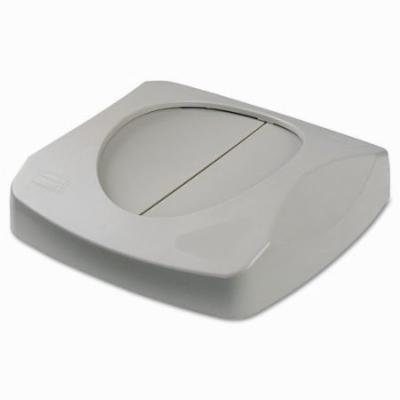 Rubbermaid Commercial Products Swing Top Lid For Untouchable Recycling Center, 16'' Square