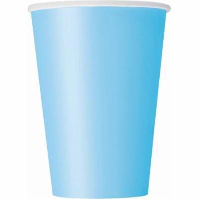 12 oz Light Blue Paper Cups, 10ct