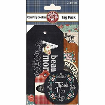 Country Cookin Tags 25/Pkg- Multi-Colored