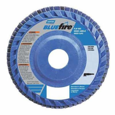 NORTON 66623399162 Flap Disc, 7 In x 80 Grit, 7/8
