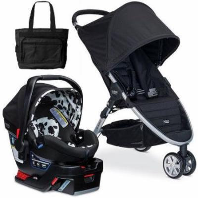 Britax - B-Agile 3 B-Safe 35 Elite Travel System with Diaper Bag - Cowmooflage