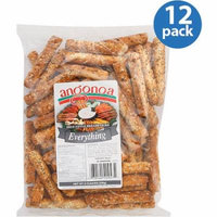 Angonoa Everything Deli-Style Breadsticks, 8 oz, (Pack of 12)
