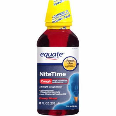 Equate Nitetime Cherry Flavor All Night Cough Relief, 12 fl oz