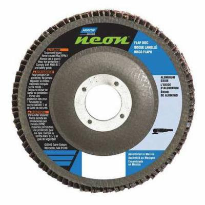 NORTON 66623399214 Flap Disc, 5 In x 80 Grit, 7/8