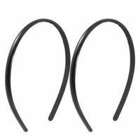 2 Pcs 0.8cm Wide Black Plastic Hair Decoration Hair Hoop with Teeth