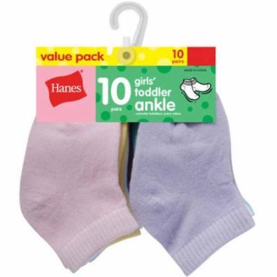 Hanes Newborn Baby Girl Ankle Socks - 10 Pack