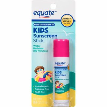 Equate Kids Sunscreen Stick, Broad Spectrum SPF 55, 0.6 oz
