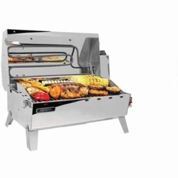 Camco 57252 Olympian Hybrid Stainless Steel 120V Electric/LP Gas Grill, Includes RV Mounting Bracket and LP Quick Connect Hose