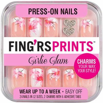 Fing'rs Prints Girlie Glam Press-On Nails, Blooming Beauty, 26 count
