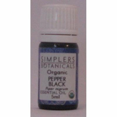 Essential Oil Pepper Black Organic Simplers Botanicals 5 ml Liquid