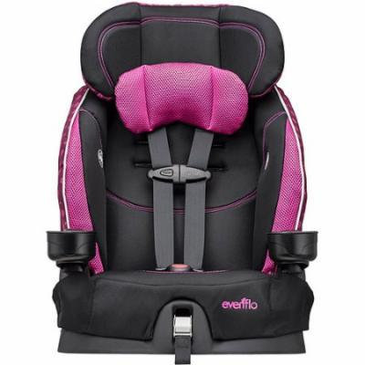 Evenflo Advanced Chase LX Harnessed Booster Car Seat, Berry Dot