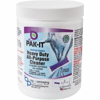 PAK-IT Industrial Strength Heavy-Duty All-Purpose Cleaner, 20 count