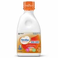 Similac Sensitive NON-GMO Milk-Based Infant Formula with Iron, Ready to Feed, 1 qt (Pack of 6)