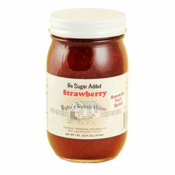 Byler's Relish House Homemade No Sugar Added Strawberry Jam Fruit Spread 16 oz.