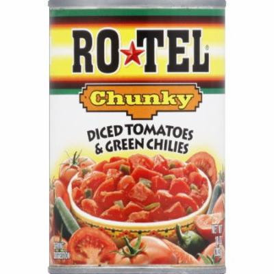 Rotel Chunky Diced Tomatoes & Green Chilies, 10 oz (Pack of 12)
