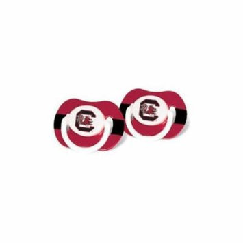 South Carolina Gamecocks Garnet-Black Striped 2-Pack Team Logo Pacifiers Multi-Colored