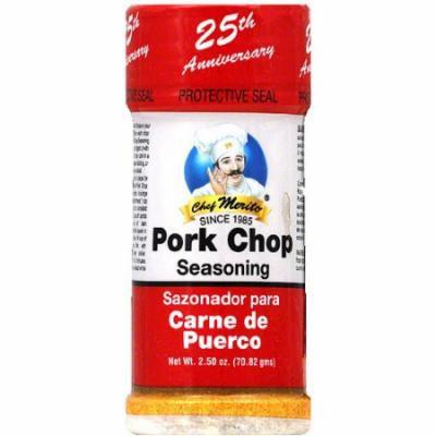 Chef Merito Pork Chop Seasoning, 2.5 oz, (Pack of 6)