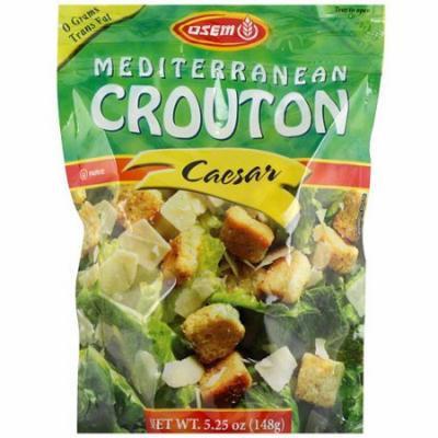 Osem Mediterranean Caesar Croutons, 5.25 oz (Pack of 8)