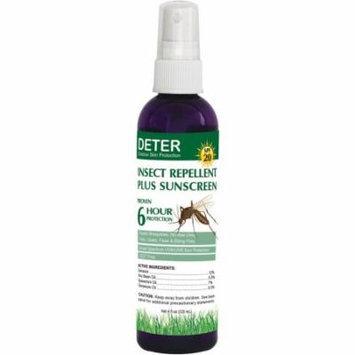 Deter Insect Repellent Plus SPF 20 Sunscreen, 4-oz Bottle