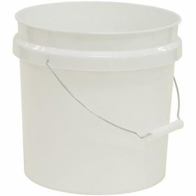 United Solutions 2-Gallon Plastic Industrial Pail with Handle, White