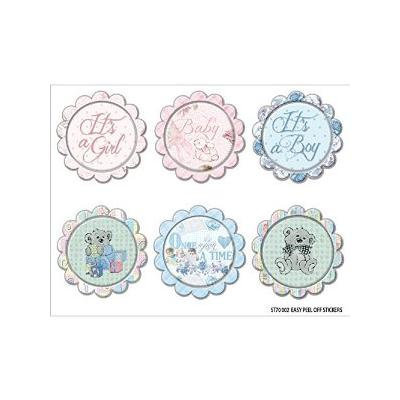 Royal Baby Vinyl Stickers 4X5-Circles Multi-Colored