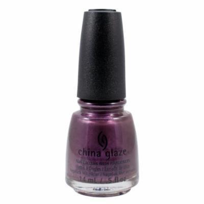 China Glaze 0.5oz Nail Polish Lacquer Clay Purple, NO PEEKING!, 1344