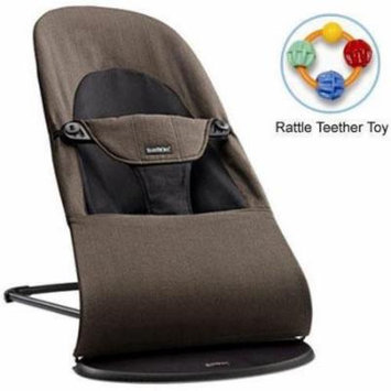 Baby Bjorn 005027US Bouncer Balance Soft Organic Cotton - Black Brown with Rattl