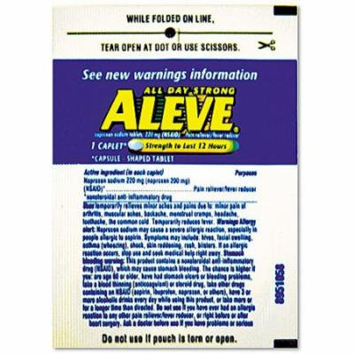 Aleve Pain Reliever/Fever Reducer Caplet Refill Packs, 220mg, 30 count
