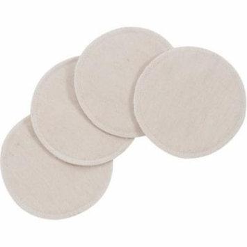 NuAngel Natural Cotton Washable Nursing Pads, 4-Pack