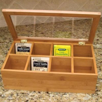 Bamboo Tea Box with Glass Lid