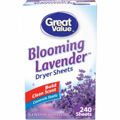 Great Value Blooming Lavender Dryer Sheets, 240 sheets