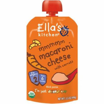Ella's Kitchen MMMMM Organic Macaroni Cheese with Carrots Stage 2 Baby Food, 3.5 oz, (Pack of 6)