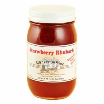 Byler's Relish House Homemade Amish Country Strawberry Rhubarb Jam 16 oz.