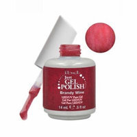 IBD Just Gel 0.5oz Soak Off Nail Polish Red, BRANDY WINE, 56518