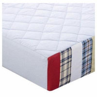 Bacati Boys Stripes and Plaids Quilted Changing Pad Cover