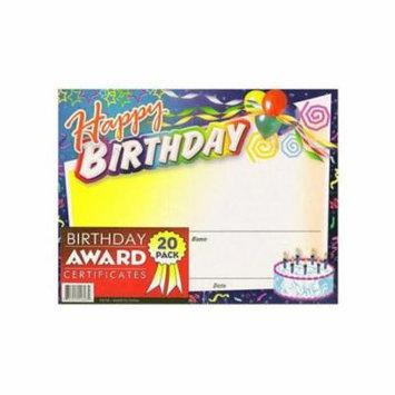Birthday Award Certificates
